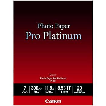 Canon Photo Paper Pro Platinum, 8.5 x 11 Inches, 20 Sheets (2768B022)