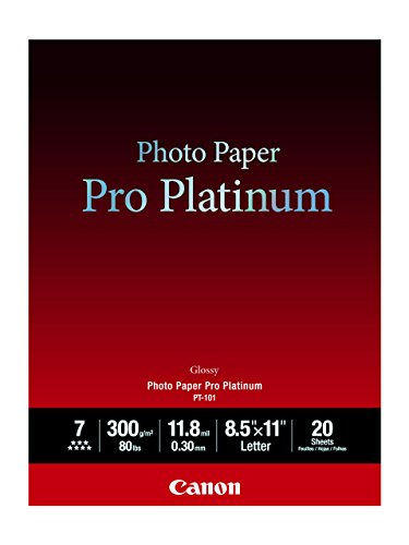 Canon Cli 8 Red Ink (Canon Photo Paper Pro Platinum, 8.5 x 11 Inches, 20 Sheets (2768B022))