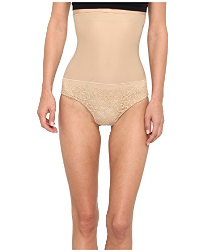 Donna Karan Women's Sculpting Solutions Lace Shaping Brief, Nomad/Froth, MD
