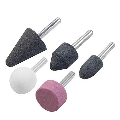 KSEIBI 689050 Grinding stone Set Of 5 Pc Stone Rotary Grinding Bits with 1/4 Inch Shank