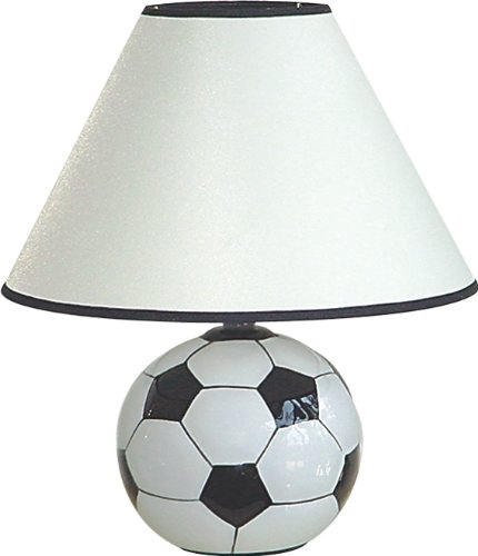 H.p.p Inc 12''h Ceramic Sports Soccerball Table Lamp