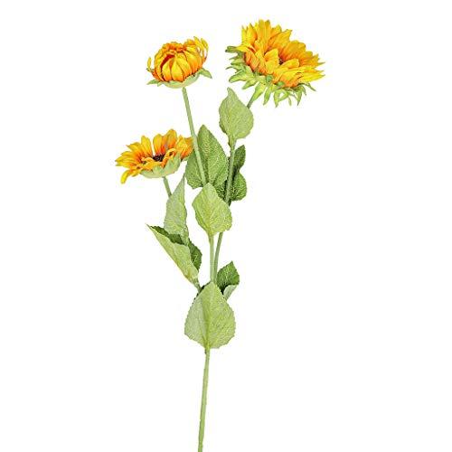 Fine Artificial Flowers, Fake Sunflowers Silk Flowers Table Centerpieces Arrangements Wedding Home Kitchen Office Windowsill Spring Decorations (A) (Cherry Table Centerpiece)