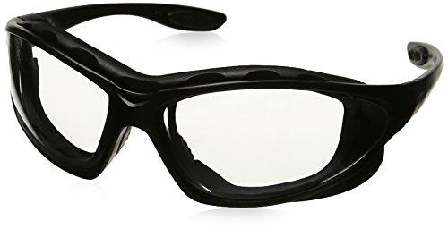 Uvex S0600X Seismic Safety Eyewear, Black Frame, Clear Uvextra Anti-Fog Lens/Headband (Frame Clear Goggle Lens Black)