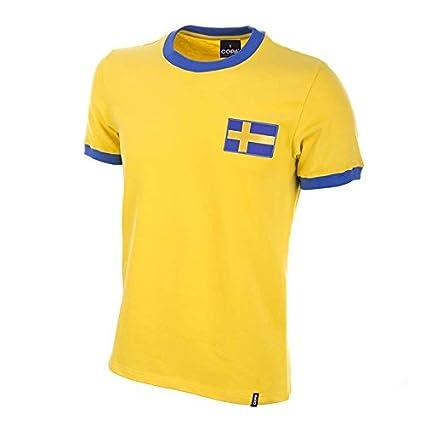 COPA Football - Camiseta Retro Suecia años 1970 (M)