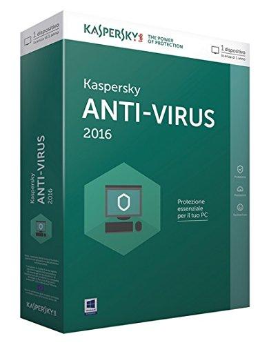 Kaspersky KL1167TBAFS Antivirus 2016, 1 Utente, 1 Anno, Verde