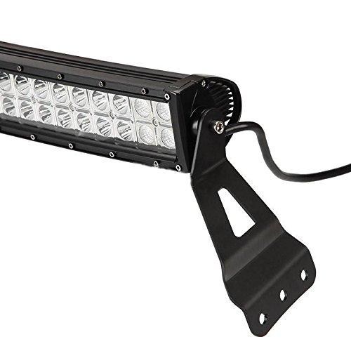 Katur 50 Inch Curvos Soportes de Barra de Luz LED Superior Parabrisas para Gm Pastillas y Veh/ículos Todo Terreno