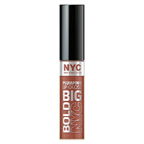 N.Y.C. New York Color Big Bold Plumping and Shine Lip Gloss, Extra Large Latte, 0.39 Fluid Ounce (Stain Plumping Lip)