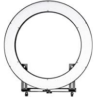 Neewer DVR-160TVC 19 inches Outer 3200-5600K SMD LED Ring Light with 4 Quarters ON/OFF Switch, Dimmer Control and Camera Bracket for Makeup, Portrait Photography and Video Recording