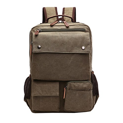 Backpack Travel Green Men's Shoulder Leisure purpose Canvas Business Multi Laidaye q78wtAgn