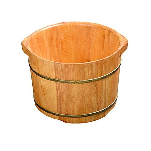 AI® Foot Tub Solid Wood Barrel Home Cedar Barrel Foot Bath Massager Solid Wood Footbath