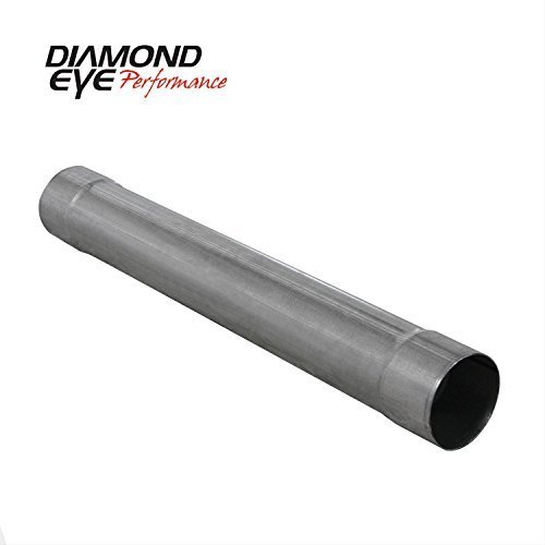 - Diamond Eye Performance Muffler Replacement Pipe, 4In; Single In / Single Out: Aluminized 27In Long - 510204