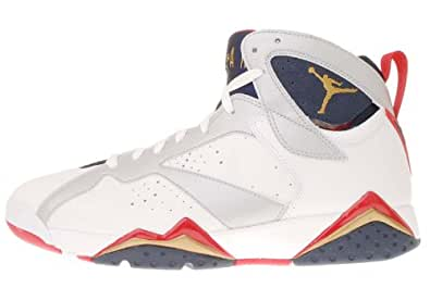 Nike Air Jordan 7 VII Retro Olympic Edition White Gold True Red 2012 304775-135 [US size 8]