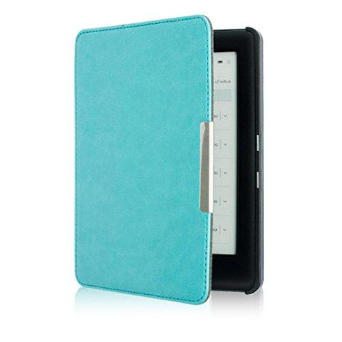 KOBO GLO HD 6.0inch Case, Yoyorule Magnetic Auto Sleep Slim Cover Case Hard Shell (Sky Blue)