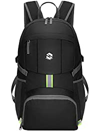 Packable Travel Hiking Backpack Daypack, Ultra Lightweight 35L Water Resistant Hiking Daypacks with Reflective Stripe Foldable Travel & Camping Backpack Casual Daypacks for Men & Women
