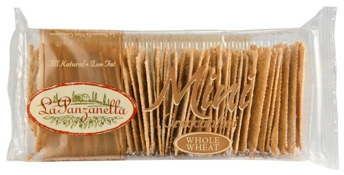 (La Panzanella Whole Wheat Mini Croccantini, 6-Ounce Packages (Pack of 12))