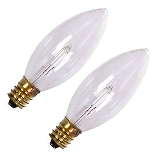 Darice 75257 - 3 volt Candelabra Screw Base Clear (2 pack) Christmas Light Bulbs