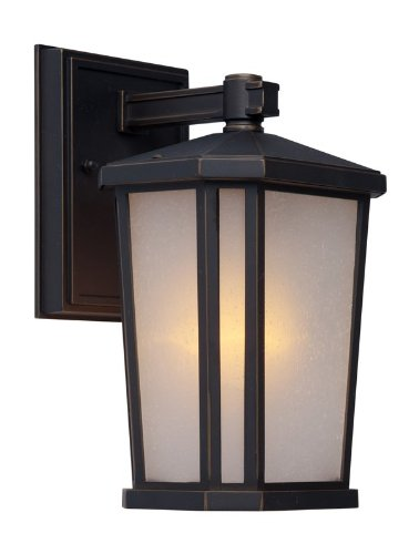 Mission Bronze Bracket - Artcraft Lighting Hampton 1-Light Outdoor Wall Sconce, Oil Rubbed Bronze