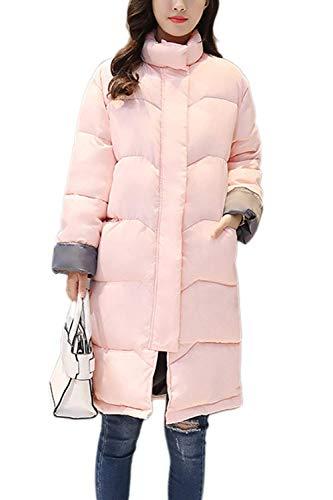 Parka Hiver Femme lgant Unicolore Veste A Capuche Fille Automne Doublure Fourrure Synthtique Hiver Jacket Manches Longues avec Ceinture Fermeture clair Manteau Outerwear Pink