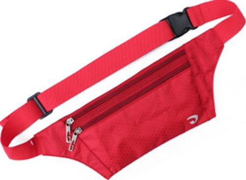 Zenness super caliente Deportes Correr paquete de la cintura (caqui) rojo