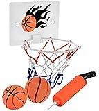 SEISSO Mini Basketball Hoop and Balls - Bedroom Bathroom Toilet Office Desktop Mini Basketball Decompress Game Gadget…