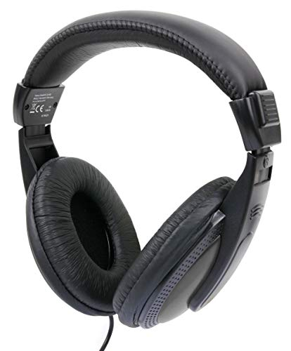 DURAGADGET Lightweight & Passive Noise-Cancelling Black & Grey Over-Ear Headphones – Compatible with HP Envy X2