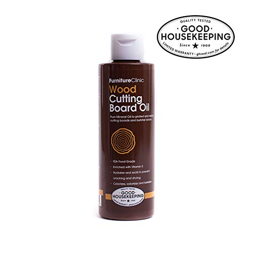 Furniture Clinic Mineral Oil for Cutting Boards - Food Grade Mineral Oil to Protect and Restore Cutting Boards, Butcher Blocks and Countertops