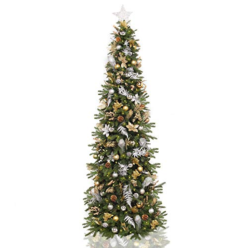 5.5' Pre-Lit Pre-Decorated Gold Silver Artificial Christmas Tree – Clear LED - Amazon.com: 5.5' Pre-Lit Pre-Decorated Gold Silver Artificial