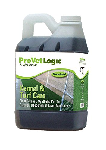 ProVetLogic Kennel Care, Pet Floor Cleaner, Synthetic Pet Turf Cleaner, Deodorizer and Drain Maintainer, Concentrated, 64 Ounces