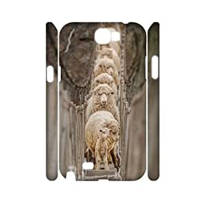 diy 3D Case Cover for Samsung Galaxy Note2 N7100 - Sheep case 3 Kimberly Kurzendoerfer