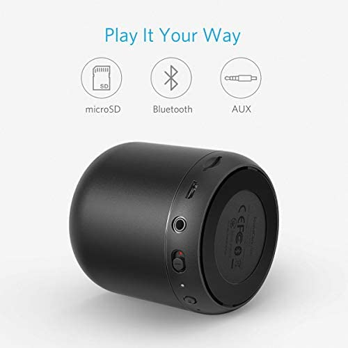 Anker Soundcore Mini, Super-Portable Bluetooth Speaker with 15-Hour Playtime, 66-Foot Bluetooth Range, Enhanced Bass, Noise-Cancelling Microphone – Black 415KJbtwdCL