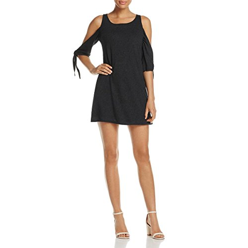 RED HAUTE Womens Open Sleeve Scoop Neck Casual Dress Black L ()