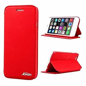 LCJ Special Design Cases with Stand PU Leather for iPhone 6(Assorted Colors) , Red