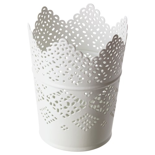 IKEA Kerzenhalter SKURAR Metall gestanzt 4 Farben (weiß)
