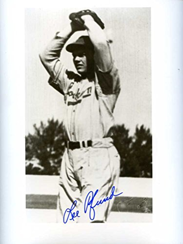 (Lee Pfund (D.) Autographed /Original Signed Rare 8x10 Photo From Old Negative Showing Him w/ the 1945 Brooklyn Dodgers)