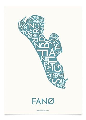 Fanø Kunstdruck von Kortkartellet. Kortkartellet har en kærlighed til æstetik, typografi, design og ...Danmark. Und das sieht man.