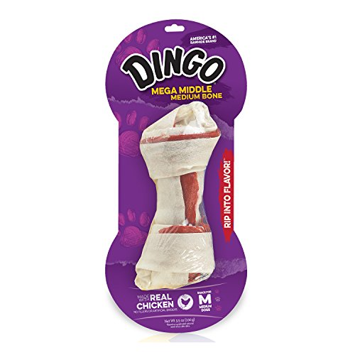 Dingo Double Meat Rawhide Bone, Medium, 1-Count (25503)