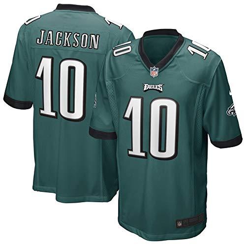 Men's Philadelphia Eagles Desean Jackson Midnight Green Game Jersey #10 L