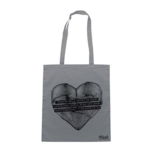 Borsa Mago Di Oz Cuore Di Latta - Grigia - Film by Mush Dress Your Style