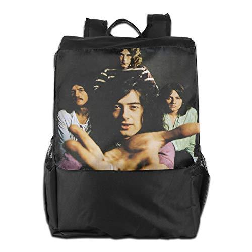 Outdoor Shoulder Backpack Tavel Bag Daypack School Laptop Bag-Rock Music Led Zeppelin
