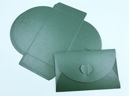 A 33 Pieces Blank Kraft Paper Envelope from (Dark green)