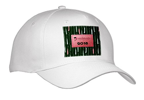 Beverly Turner Graduation Design - Graduate with Cap, 2018, Tassels as Background, Bright Coral on Green - Caps - Adult Baseball Cap (cap_262840_1) (Graduate Hat)