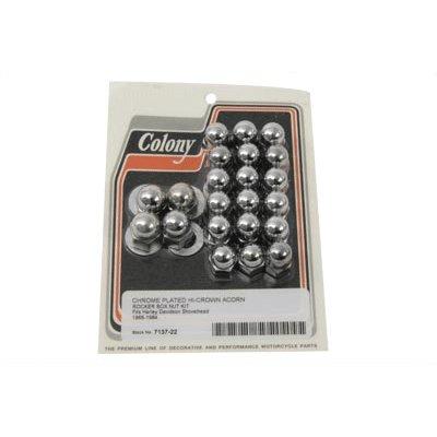 UPC 115971647878, Colony Acorn Rocker Box Nut Set for Harley-Davidson (C01010118)