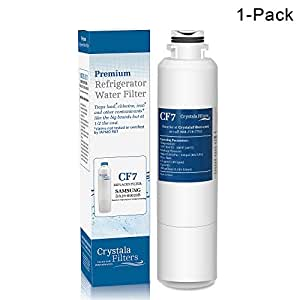 DA29-00020B Replacement Samsung Refrigerator Water Filter, Crystala Filters Compatible With Fridge HAF-CIN, DA29-00020A, 46-9101,DA29-00019A, Pack of 1