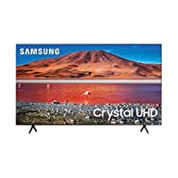 Samsung 55 Inches 4K Ultra HD LED Smart TV with Built-in Receiver, Black - UA55AU7000UXEG