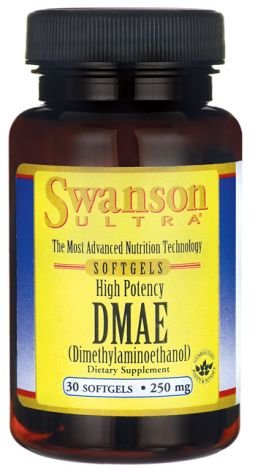 Swanson Ultra, DMAE 250mg, 30 Softgel-Kapseln - Intellektuelle Leistung, Speicher & Konzentration (High Potency Dimethylaminoethanol softgels capsules)