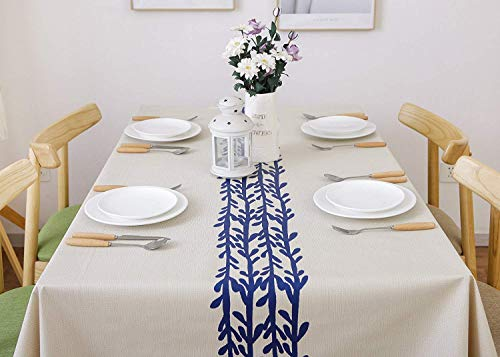 LEEVAN Heavy Weight Vinyl Rectangle Table Cover Wipe Clean PVC Tablecloth Oil-Proof/Waterproof Stain-Resistant-54 x 78 Inch(Rattan) - Material: 100% PVC, grade A vinyl heavy weight tablecloth, Variety stylish pattern of same PVC tablecloth available in LeeVan Store Spills, oil and liquids bead up and won't leak through the tablecloth so your tablecloth looks fresher longer Smooth surface and durable for any table setting whether casual or formal - tablecloths, kitchen-dining-room-table-linens, kitchen-dining-room - 415KOjChPjL -
