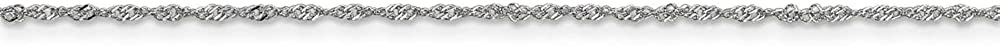 Jewelry Necklaces Chains Leslies 10K White Gold 1 mm Sparkle Singapore