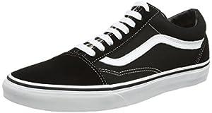 Vans Old Skool, Unisex Adults' Low-Top Trainers, Black (Black/White), 10 UK