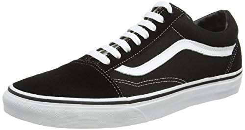 Vans Unisex Old Skool Black/White Skate Shoe 13 Men US