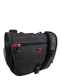 Swiss Gear Black Tablet Messenger Bag, Gray, International Carry-on